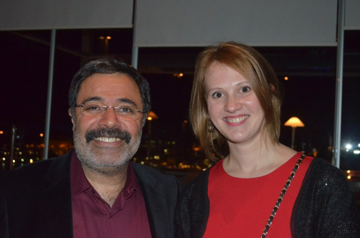 Ahmet Umit with Russian translator Evgeniya Larionova