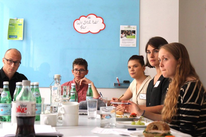 Up-and-coming translators participate in workshop organized by the German Book Office New York and Goethe-Institut.