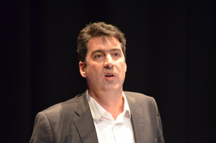 HarperColins UK CEO Charlie Redmayne at the 2015 Futurebook conference