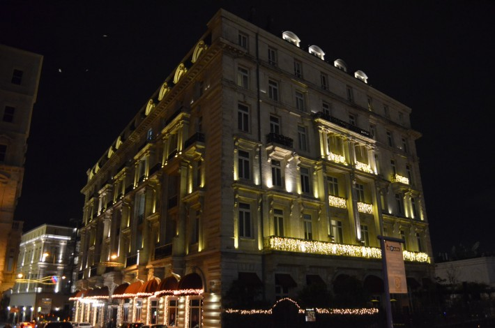 The Pera Palace Hotel, where Hemingway and Agatha Christie stayed.