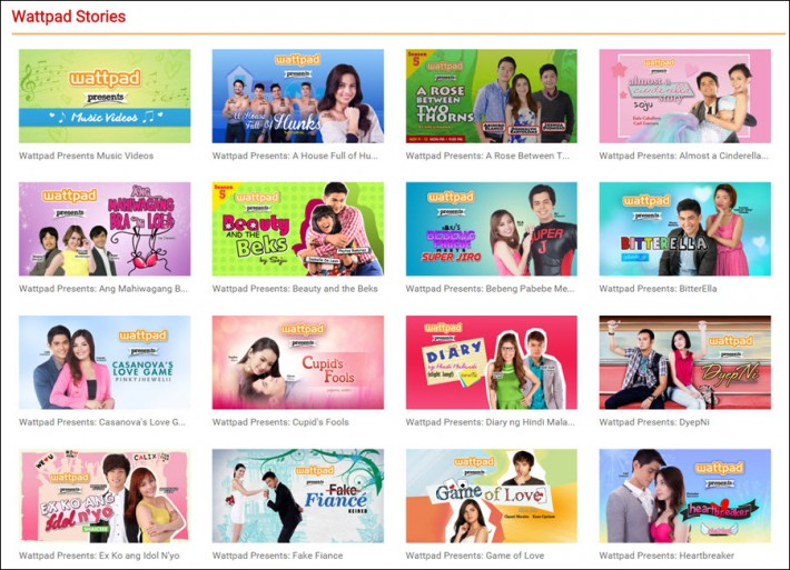 The WattpadPresents partnership with TV5 Manila dramatizes Wattpad writers' stories, while an arrangement with Summit Media's Pop Fiction Books sees them published for avid fans.