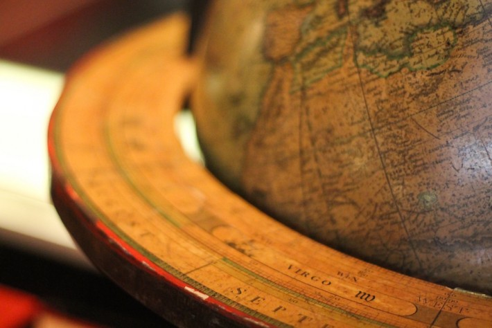 old globe closeup