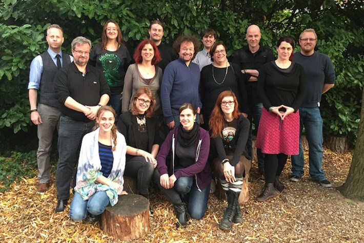 Founding members of PAN, a newly formed network for German fantasy authors