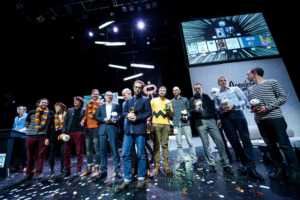 Winners at the 2016 Angoulême Festival International de la Bande Desinée. Image: Festival site