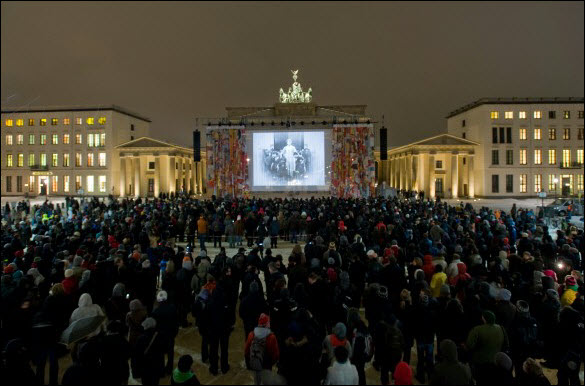 From the 2010 Berlinale, an event at the Brandenburg Gate. Image: Berlinale.de