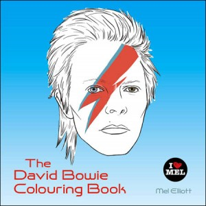 A David Bowie coloring book by Mel Elliot is to be released March 17 by Quercus in the UK.