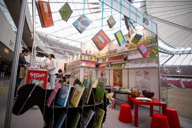 A look at the Czarna Owieczka stand at 2015's Warsaw Book Fair. Image courtesy Frankfurt Book Fair