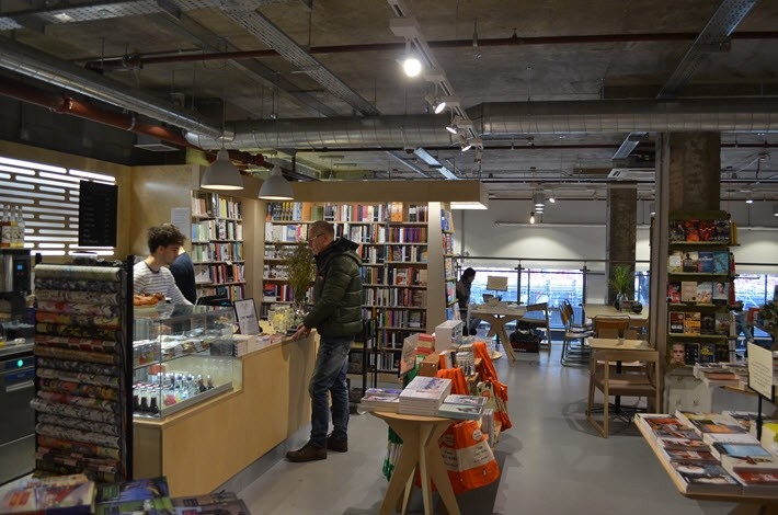 Waterstones in Tottenham Court Road includes a wine bar and café. Image: Roger Tagholm
