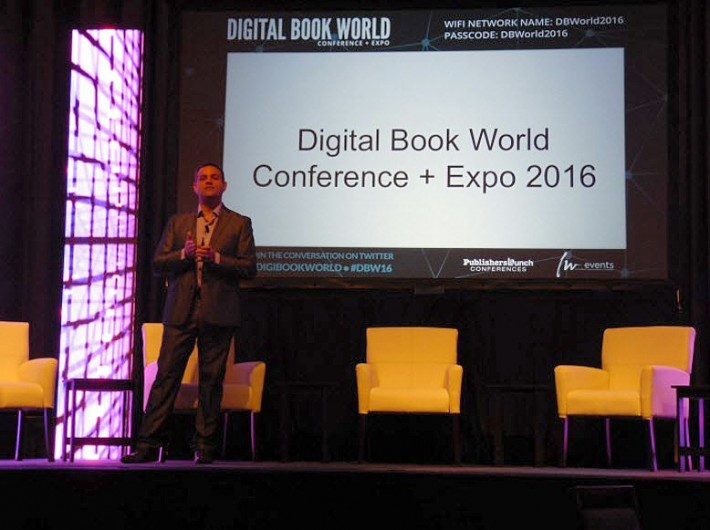 Data Guy gives his keynote presentation at Digital Book World in New York City