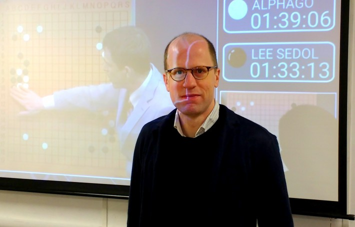 Nick Bostrom at Oxford's Future of Humanity Institute. Image: Mark Piesing