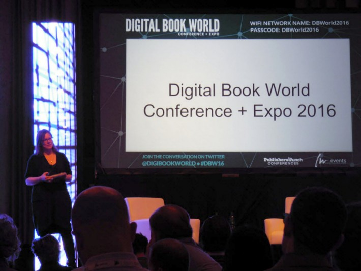 Mary Ann Naples, formerly publisher with Rodale Books, speaks at Digital Book World 2016 on Tuesday