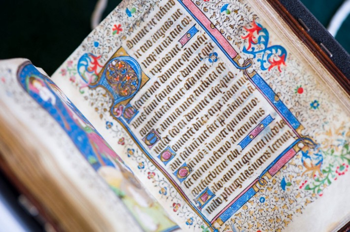 The newly acquired University of British Columbia 15th-century Book of Hours. Image: UBC media