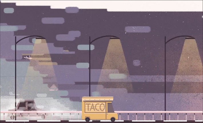 Illustrations for CNET's 'The Last Taco Truck in Silicon Valley' are by Roman Muradov with animation by Justin Herman.