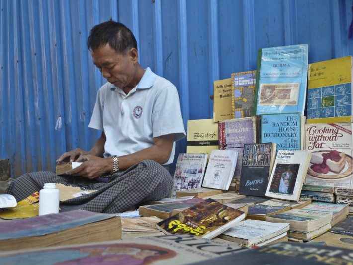 A street bookseller in Yangon. Image - iStockphoto: Camerado