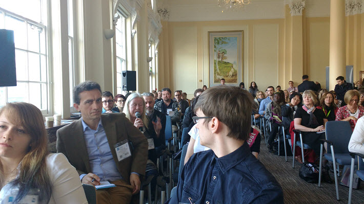 Members of the audience at London Book Fair's crowdfunding Insight Seminar Programme event. Image: Mark Piesing