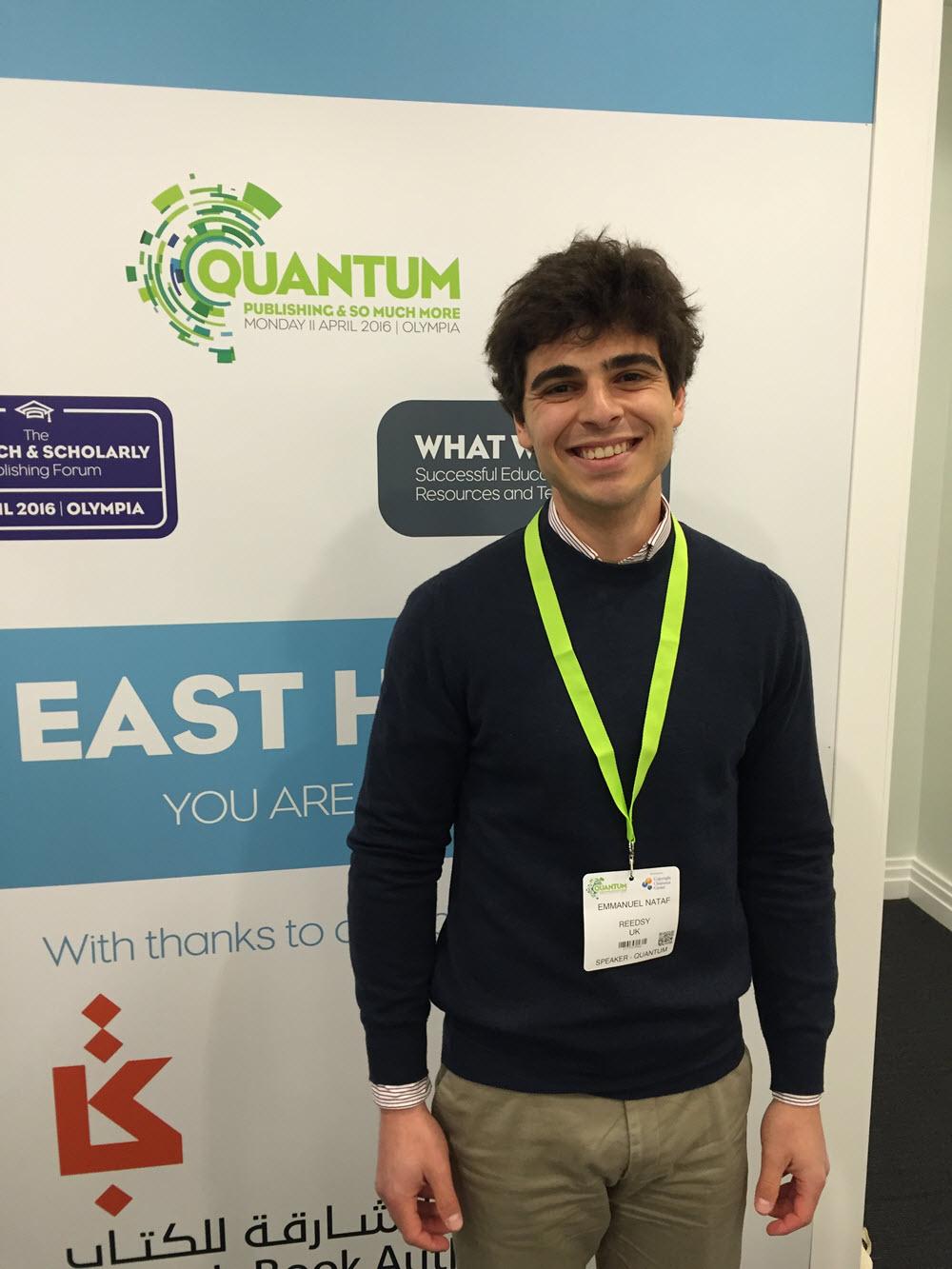 Reedsy CEO Emmanuel Nataf. Image: Alastair Horne