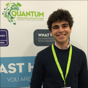 Reedsy CEO Emmanuel Nataf collected the Quantum Publishing Innovation Award at the London Book Fair earlier this month. Image: Alastair Horne