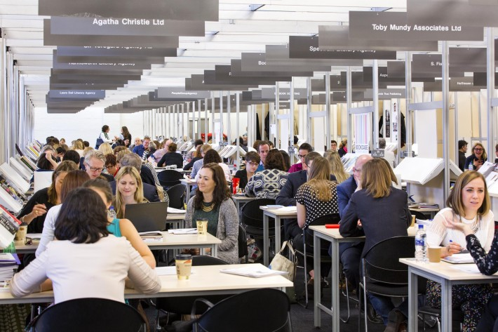 Inside the International Rights Centre at London Book Fair, 2015. Image: Provided by London Book Fair