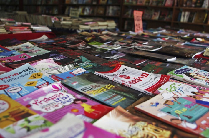 Books on sale in Chiang Mai, Thailand. Image - iStockphoto: tapisful