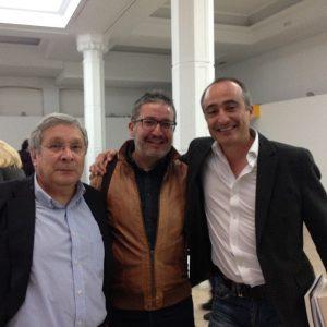 From left: Manuel Gil (blogger Antonomiaslibro), Alberto Vicente (Anatomía de Red), David Sánchez (24symbols). Image: Valentina Morotti