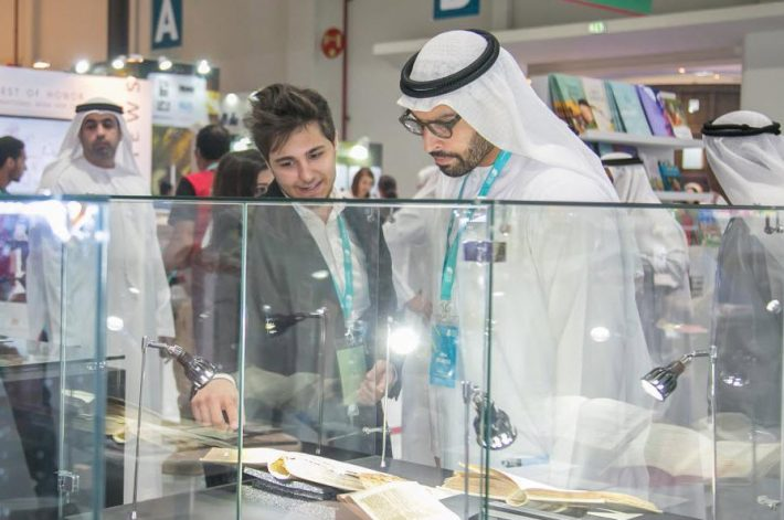 At Abu Dhabi International Book Fair 2016. Image: ADIBF