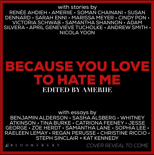 "A cover reveal for the ""Because You Love To Hate Me"" collection is still to come"