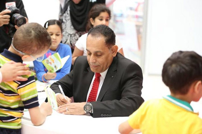 A book signing at Sharjah Children's Reading Festival
