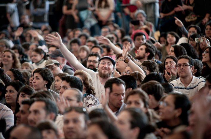 A concert crowd at the 2015 Guadalajara International Book Fair. Image: FIL / Paola Villanueva Bidault