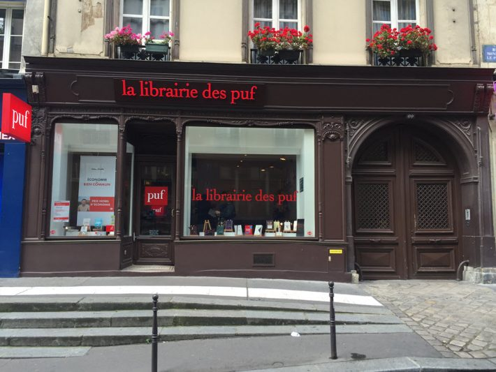 "Sometimes referred to as a ""bookless bookshop,"" La Librarie des PUF is capable of producing more than 3 million titles. Image: Alastair Horne"