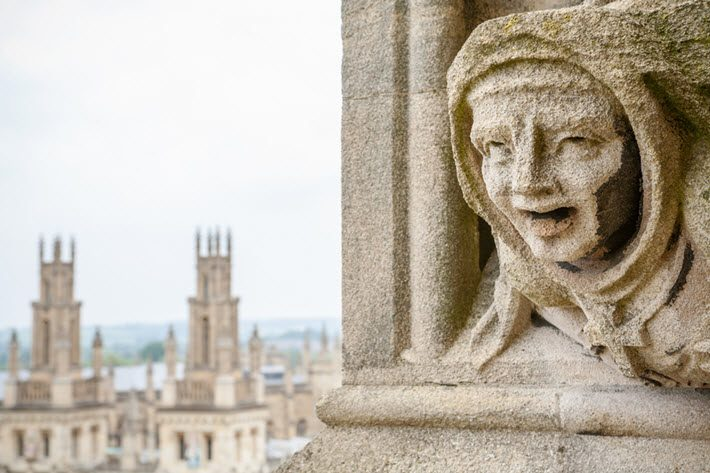 Is a sense of place involved in the popularity of crime fiction? If so, this witness is at the University Church of St. Mary the Virgin in Oxford. Image - iStockphoto: Anthony Baggett