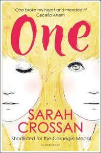 Cover art from the paperback edition of 'One' from Bloomsbury Children's Books.
