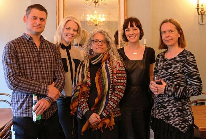 Sarah Crossan, second from left, and fellow YA Book Prize shortlist authors at The Bookseller's awards reception. Image: Patrick Clarke