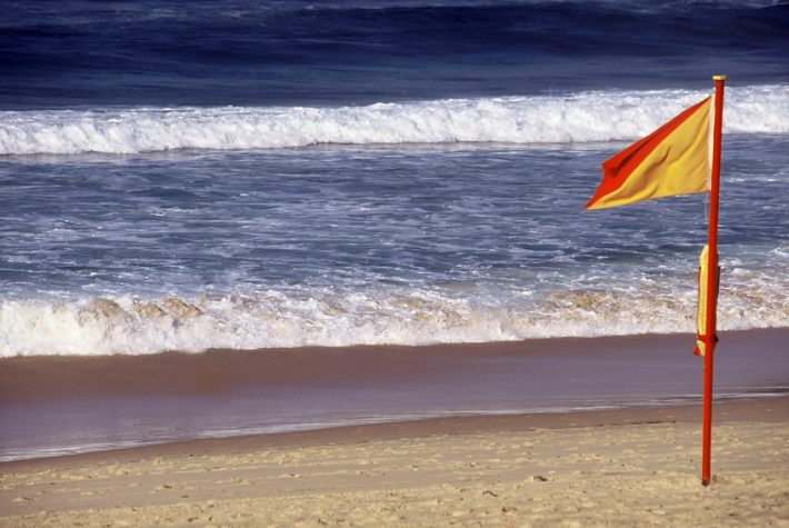 A warning flag on Australia's Bondi Beach. Image - iStockphoto: Steve Lovegrove