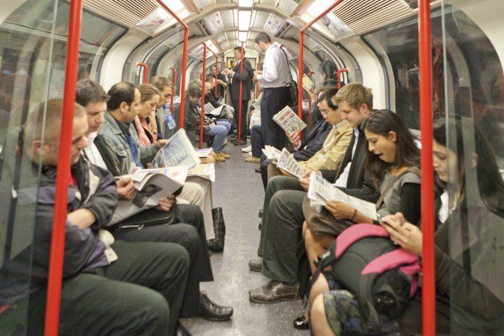On the commute in London. Image - iStockphoto: liorpt