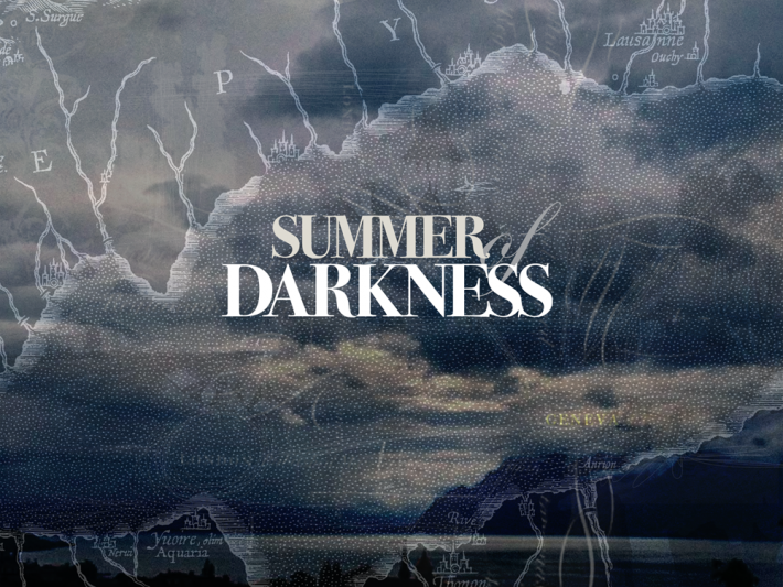 Splash page artwork for the 'Summer of Darkness' app. Image: Digital Scenographic