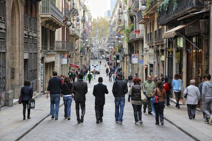 On Barcelona's Carrer de Ferran. Image - iStockphoto: tupungato