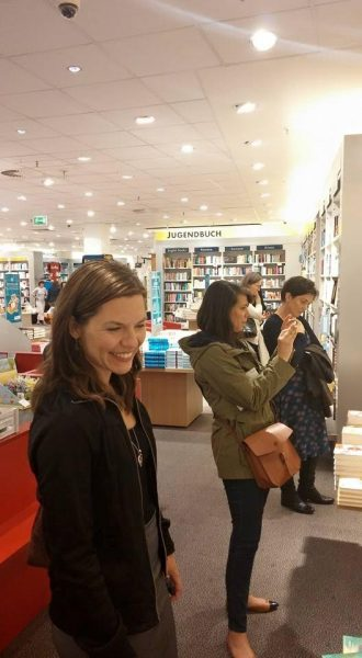 Members of the children's book editors group visit a Thalia bookstore. Image: German Book Office New York
