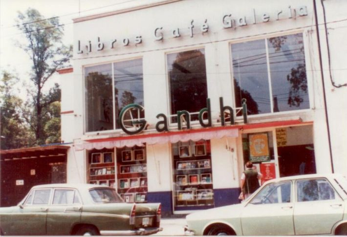The original Gandhi bookstore location opened in 1971. Archival image courtesy Gandhi.