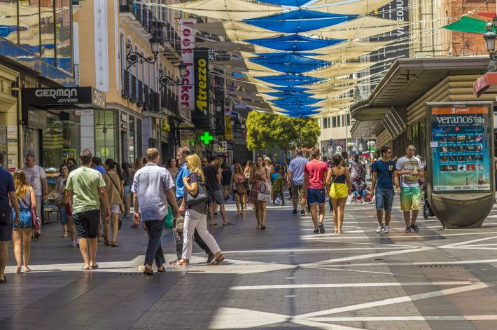 On Madrid's Calle Preciados. Image - iStockphoto: Lord Kuernyus