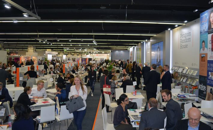 The massive Penguin Random House stand at the 2015 Frankfurt Book Fair (Image: Roger Tagholm)