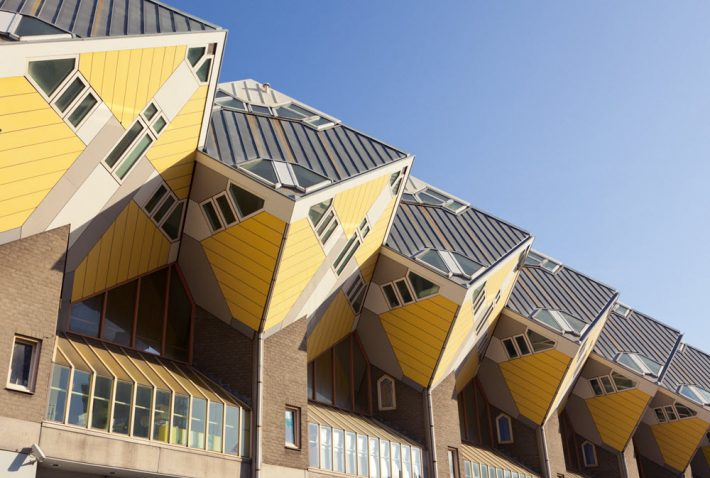 Rotterdam's 'Cube Houses, designed in the 1970s by Piet Blom. Image - iStockphoto: Oliver Hoffmann