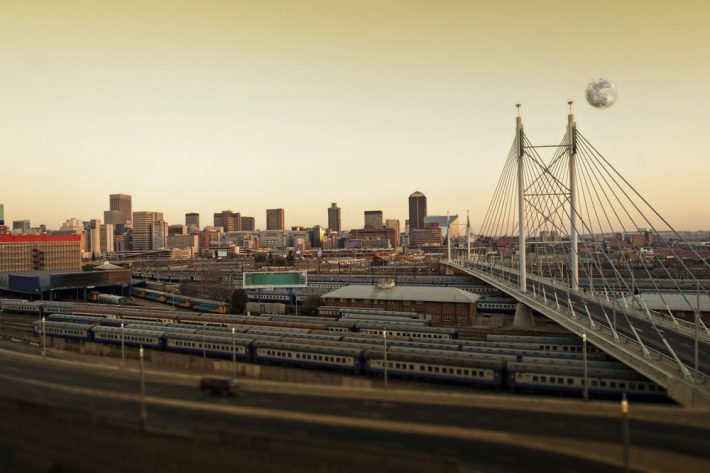 The Nelson Mandela Bridge in Joannesburg, for which Bridge Books is named. Image - iStockphoto: MFotophile
