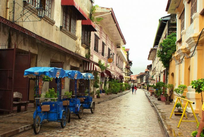 In the historic district of Vigan on The Philippines' island of Luzon. Image - iStockphoto: Lana Byko