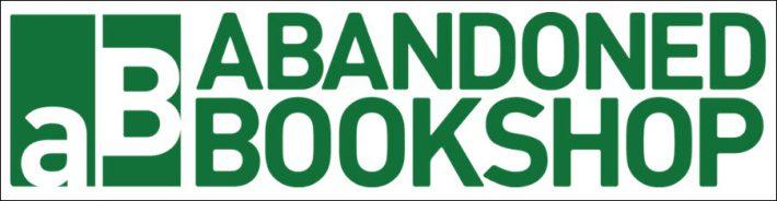 Abandoned Bookshop logo lined