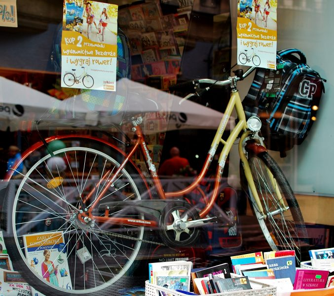 Inside the display window at the BookBook store in Cieszyn. Image: Kazimierz Branny