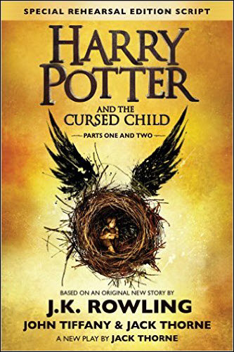 Harry Potter Cursed Child US cover Scholastic lined