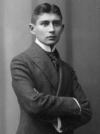 Franz Kafka in 1906, a photo taken at Atelier Lotte Jacobi. Image: Public domain.