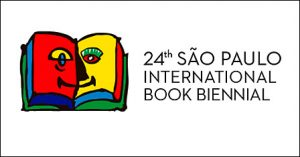 Sao Paolo Intl Book Biennial 2016 logo on white lined