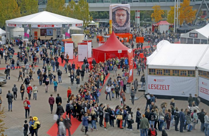 Some of Newsweek's live at Frankfurt Book Fair will be set at the Agora's Open Stage, seen here in last year's fair. Image: Frankfurter Buchmesse, Alexander Heimann