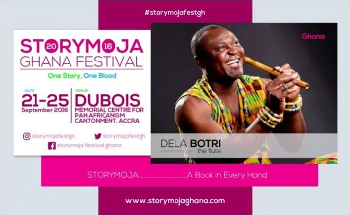 Flutist Dela Botri appears this week at Storymoja Ghana. Image: Storymojaghana.com